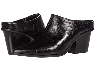 KAANAS Brunello Croc Embossed Mule (Black) Women