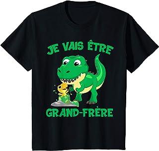 Enfant Je vais être grand frère dinosaure cadeau grossesse dino T-Shirt