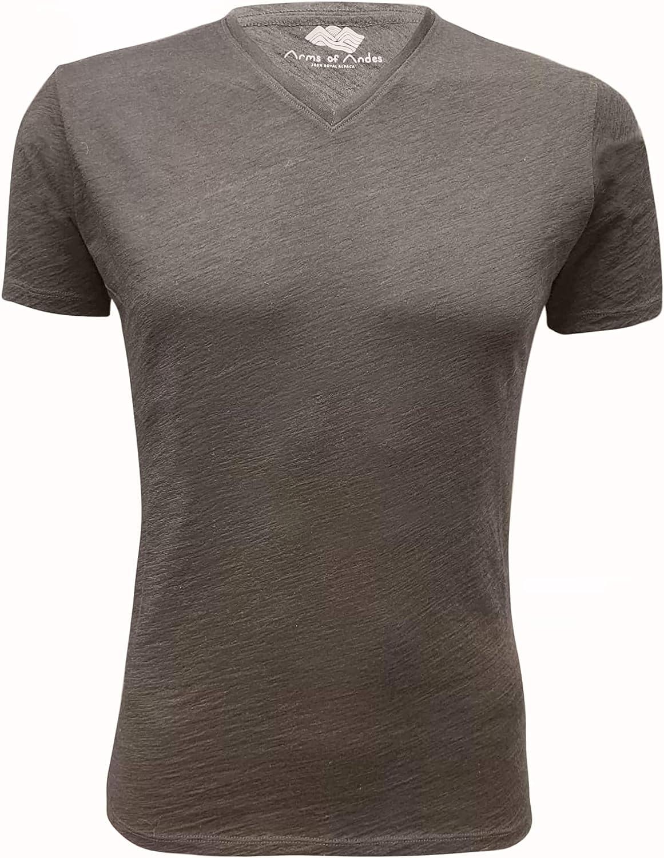 Brand Cheap Sale Venue AoA Men's Royal Alpaca V-Neck Outdoor Max 43% OFF Light Ecol Wicking Shirt: