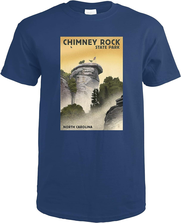 Chimney Rock State Park North Max 41% OFF San Jose Mall Carolina Lithograp