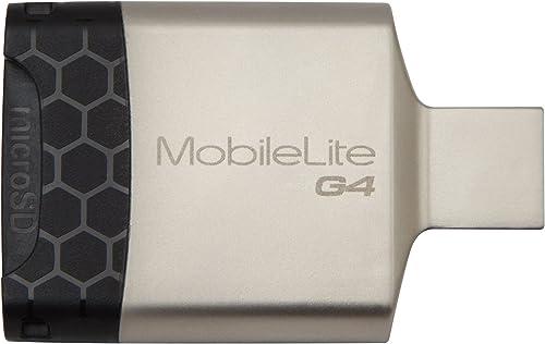 Kingston USB 3.0 MobileLite G4 Card Reader Supports SD/SDHC/SDXC, microSD/SDHC/SDXC Portable, Sleek
