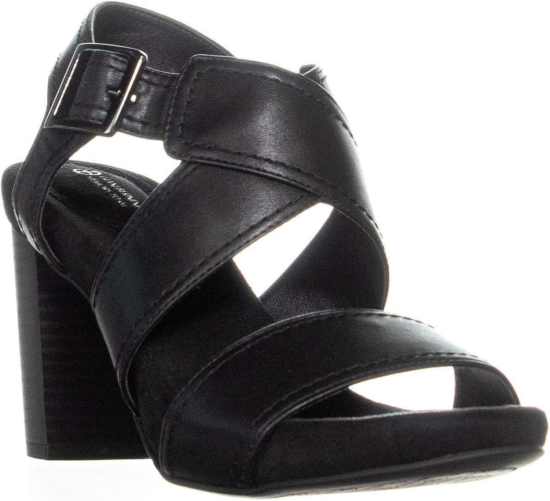 Giani Bernini GB35 Jenett Block Heel Ankle Strap Sandals, Jean