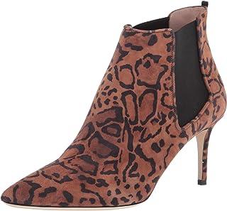 SJP من سارة جيسيكا باركر حذاء برقبة للسيدات، جلد فهد سويدي، 10. 5