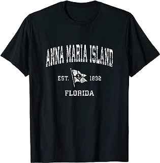 Anna Maria Island FL Vintage Nautical Boat Anchor Flag T-Shirt