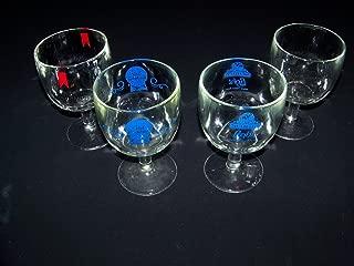 Pabst Michelob Schlitz Light Olympia Vintage 4 Beer Glass Goblet Set