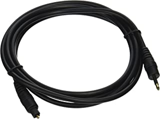 Mono 101557 6-Feet Optical TosLink to Mini TosLink M/M 5.0mm OD Molded Cable