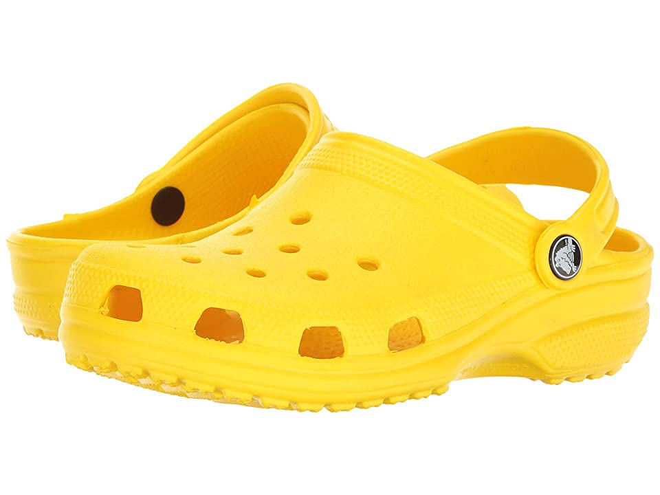 Crocs Kids Classic Clog (Toddler/Little Kid) (Lemon) Kids Shoes