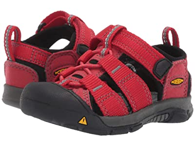 Keen Kids Newport H2 (Toddler) (Ribbon Red/Gargoyle 1) Kids Shoes