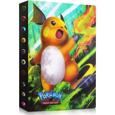 Mew-Zwei WELLXUNK Pokemon Karten,Pokemon Sammelalbum Pok/émon Karten Pokemon Album Buch GX EX Trainer Sammelkartenalben,30 Seitig Kann Bis zu 240 Karten Aufnehmen