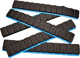 7 hjulvikter svart 12 x 5 g I självhäftande vikter I stålvikter självhäftande stänger 60 g I rivningskant förzinkad och pl...