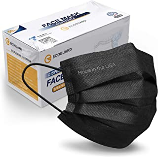 Made in USA, ASTM Level 3 Face Mask by ECOGUARD, 3-ply / 50 Pack / Disposable / Breathable