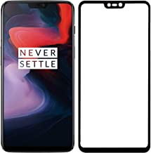 POPIO Tempered Glass Screen Protector For OnePlus 6 (Black) Edge to Edge Full Screen Coverage With Installation Kit