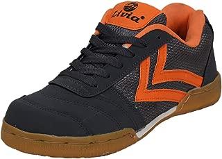 Livia Boy's Court Non-Marking Badminton Shoe (Grey/ORG)
