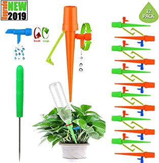 THEKBS Plant Watering Spikes Self Plant Waterer Automatic Vacation Drip Irrigation Watering Devices Watering Globes with Slow Release Control Valve Switch for Plants 6pcs