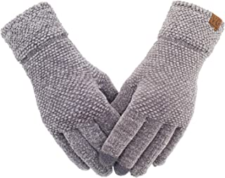 Women's Winter Touch Screen Gloves Chenille Warm Cable Knit Touchscreen Texting..