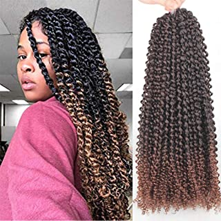 Xtrend 6 Packs 18 inch 22 Strands/Pack Passion Twist Hair Water Wave Crochet Braiding Hair Bohemian Crochet Braids Pre Looped Synthetic Fiber Natural Hair Extension T30