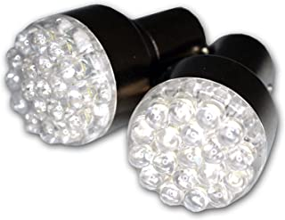 TuningPros LEDUHL-1156-R19 Under Hood Light LED Light Bulbs 1156, 19 LED Red 2-pc Set