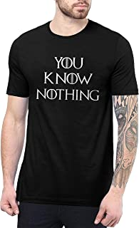 You Know Nothing Shirt Mens - Game TV Series Thrones Merchandise