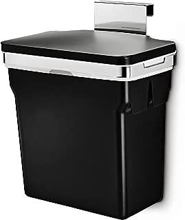 simplehuman 10 Liter / 2.6 Gallon In-Cabinet Trash Can, Heavy-Duty Steel Frame, Black