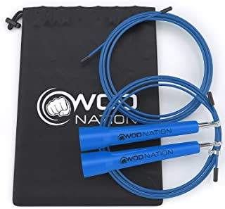 WOD Nation Speed Jump Rope – Blazing Fast Jumping Ropes – Endurance Workout..