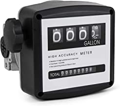 Mophorn Mechanical Fuel Meter 20 to 120L Per Min Digital Diesel Fuel Flow Meter Black Fuel Meter Diesel For All Fuel Transfer Pumps 10Bar