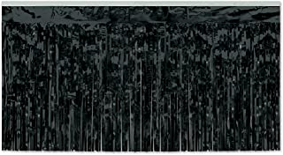 Beistle 55047-BK 6-Piece 1-Ply Metallic Table Skirting, 30 by 14-Feet