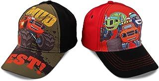کلاه های بیس بال نازک پسران نیکلودئون Blaze Character پنبه ، 2 قطعه مجموعه متنوع طراحی ، سن 2-4