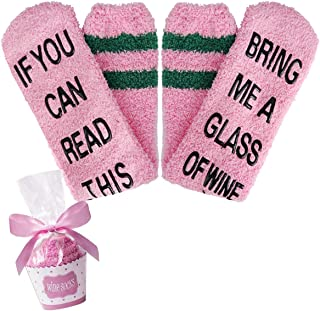 If You Can Read This Cozy Slipper Crew Socks for Men Women, Funny Saying