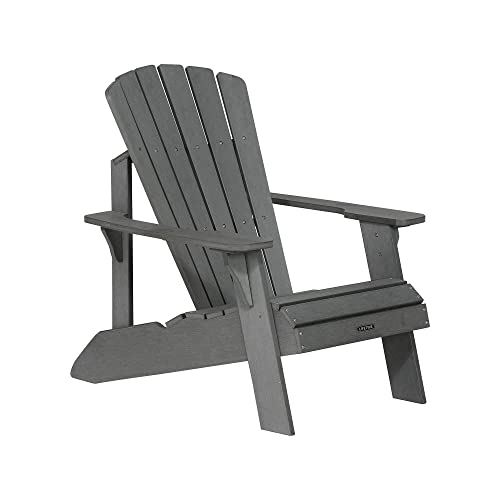 Ordinaire Lifetime Faux Wood Adirondack Chair, Gray   60204