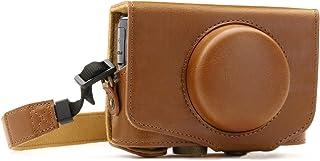MegaGear Ever Ready Leder Kameratasche mit Trageriemen kompatibel mit Canon PowerShot SX740 HS, SX730 HS