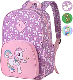 "Preschool Backpack Girls, 15"" Unicorn Kindergarten Backpacks"