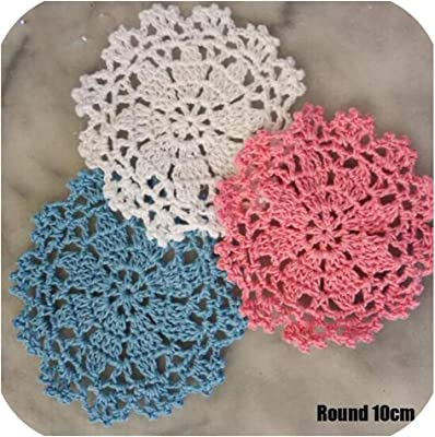 Fiesta Top Round Lace Crochet Placemat Coffee Cotton Table Place