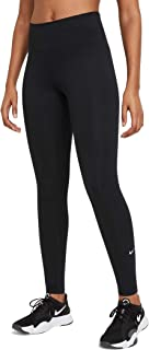 Nike Women's W ONE MR TGHT 2.0 Leggings, Black/(White)