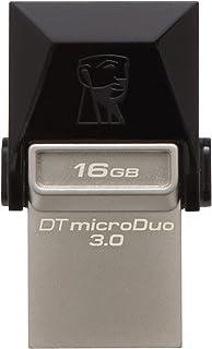 Kingston Digital 16GB Data Traveler Micro Duo USB 3.0 Micro USB OTG (DTDUO3/16GB) 16 GB DTDUO3/16GB