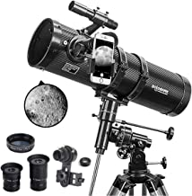 Telescope, Polaris 130EQ Newtonian Professional Astronomical Reflector Telescope Comes with Cellphone Adapter with 1.5X Ba...