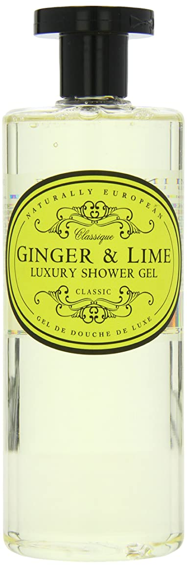 ブリッジ答えスカープNaturally European Ginger and Lime Luxury Shower Gel 500ml