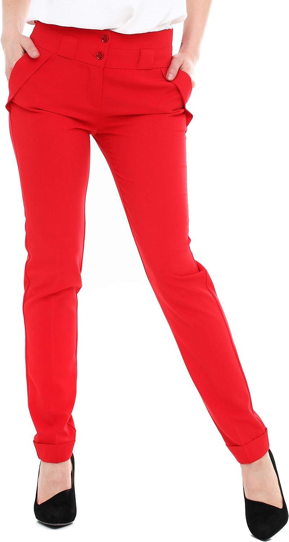 LadyLike Womens Modern Skinny High Waist Dress Pants Trousers for Work Office