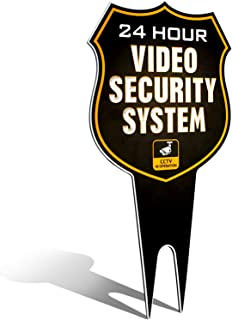 security camera yard signs