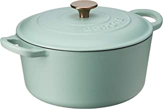 CAROTE Enamel Pot with Lid, 23cm, Macaroon Green