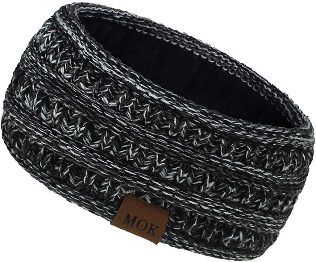 Women Winter Warm Dealing full price reduction Knit Ear Warmer Max 45% OFF F Headband Thick Soft Stretchy