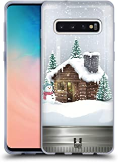 Head Case Designs Cabin Christmas in Jars Soft Gel Case Compatible for Samsung Galaxy S10