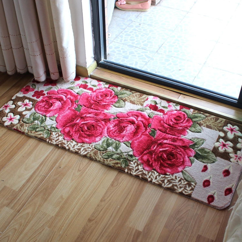 Bedside Mats Balcony,Bedroom,Living Room,Hall,Long Mat Floor Mat Kitchen Floor Mats Non-Slip Mat-A 80x180cm(31x71inch)