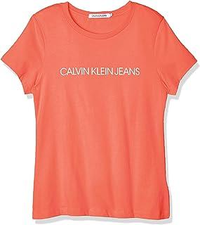 Calvin Klein Institutional Logo Slim Fit tee Camiseta para Mujer