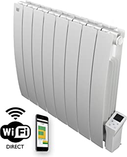 Radiador eléctrico Smart Wi-fi Deltacalor Caldo 1500 W. Termoconvector de pared de bajo consumo con termostato digital Wi-Fi. Calefacción de habitaciones de hasta 16 m².
