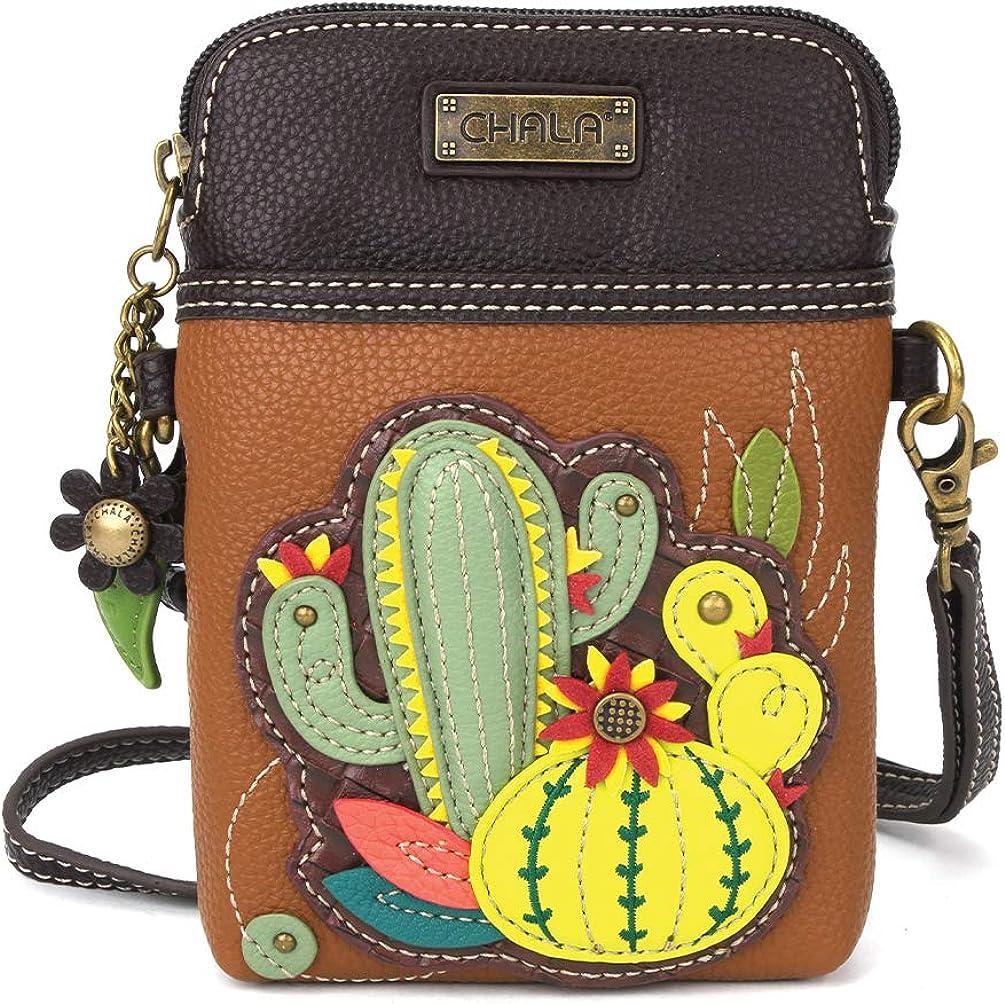 Chala Bolso multicolor de la lona del monedero del teléfono celular de Crossbody con la correa ajustable
