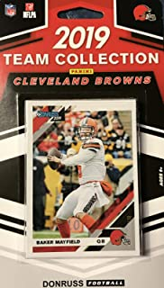 Cleveland Browns 2019 Donruss Factory Sealed 10 Card Team Set with Baker Mayfield and Odell Beckham Plus a Greedy Williams Rookie and 7 Other Cards