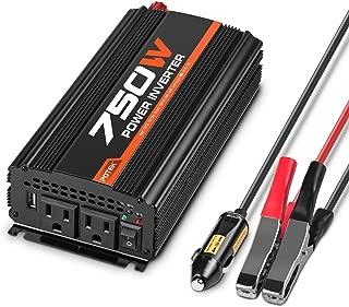 POTEK 750W Car Power Inverter DC 12V to 110V AC Dual AC Charging Port / 2A USB Port for Laptop, Smart Phone