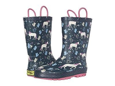 Western Chief Kids Playful Pony Rain Boots (Toddler/Little Kid) (Navy) Girl