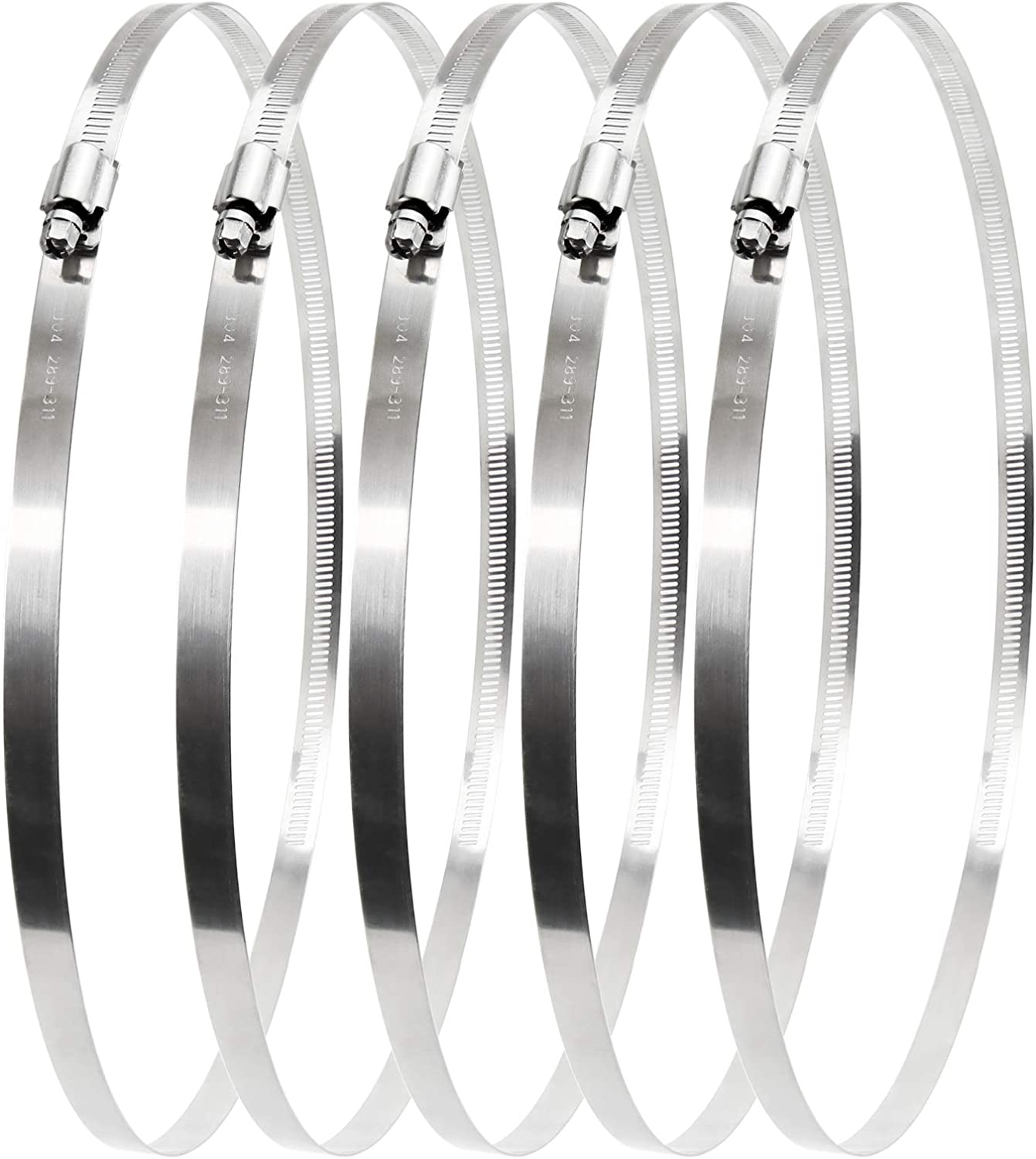 Beaquicy Indefinitely 12 Inch Stainless Steel Max 76% OFF Worm Gear Duct Hose Clamp
