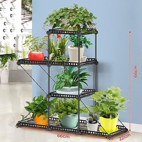 WEBO Home- Kombination aus Eisen Netz Balkon Blumenrahmen Wirtschaft Mode Blume Shop Blume Rack -Regal (Größe   66  22  66cm-A)